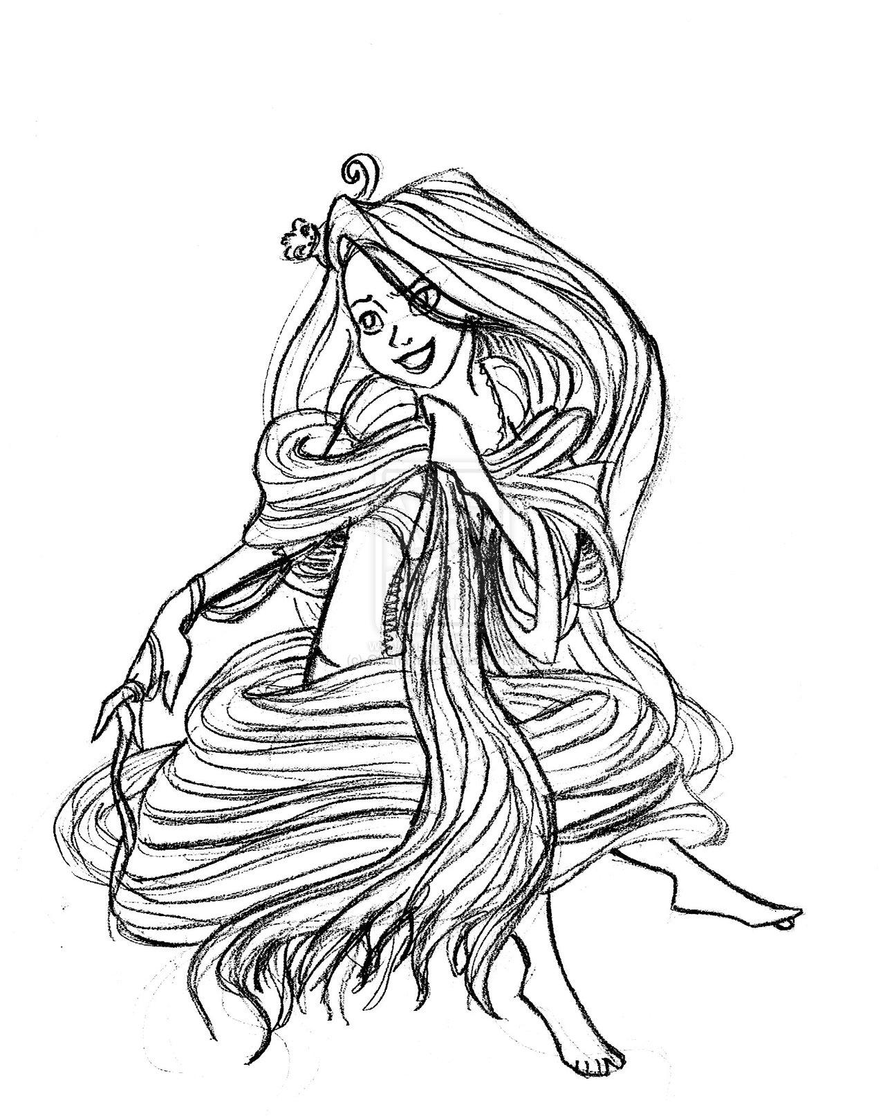 Disney Princess images Rapunzel sketch HD wallpaper and ...