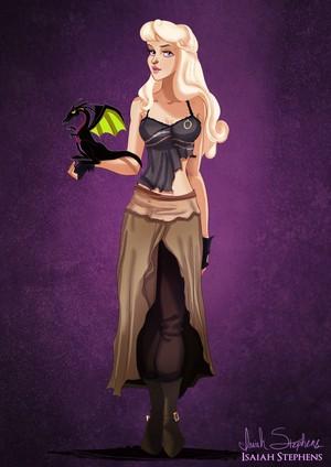 Aurora as Daenerys Targaryen