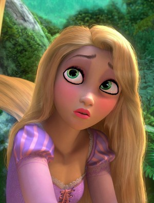 rapunzel's guilty look