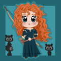 brave {merida} - disney-princess fan art