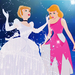 Cinderella - Pink to Silver - disney-princess icon