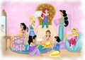 Princesses having a sleepover  - disney-princess photo