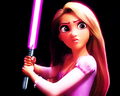 Rapunzel Lightsaber - disney-princess fan art