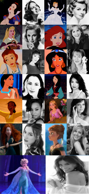 Disney Princess and their Voice Actresses