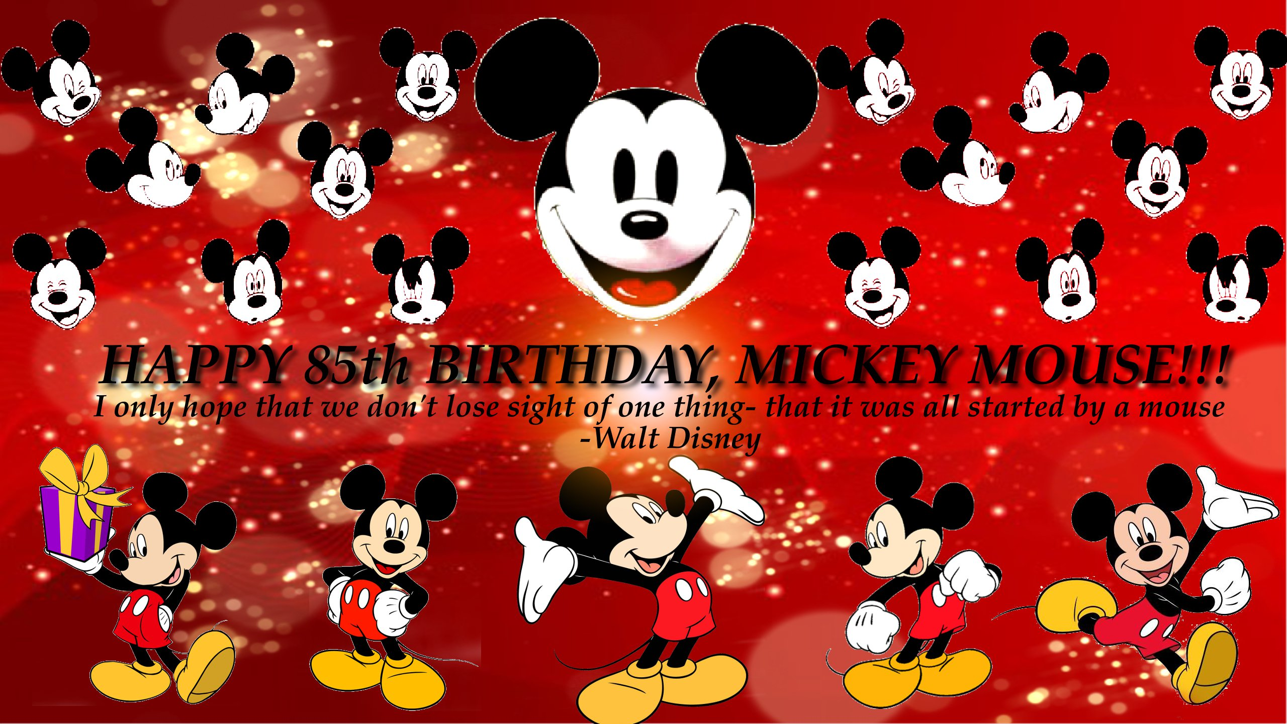 Disney Images Happy 85th Birthday Mickey Mouse D HD Wallpaper And Background Photos