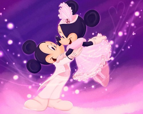 Disney wallpaper called mickey and minnie