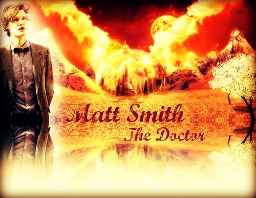 doctor who wallpaper possibly containing a api and a sign titled Matt Smith The 11th Doctor at Gallifrey