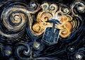 camioneta, van Gogh TARDIS