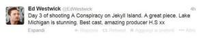 Ed Westwick twitter account - 20 November 2013