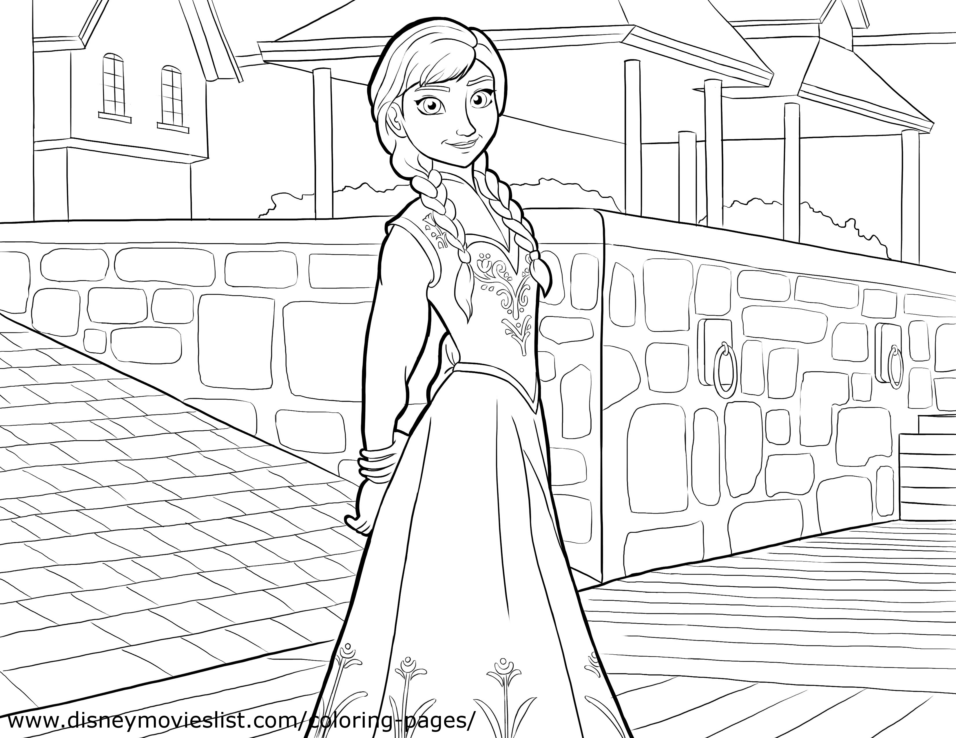 Elsa And Anna Images Anna Coloring Page HD Wallpaper And Background