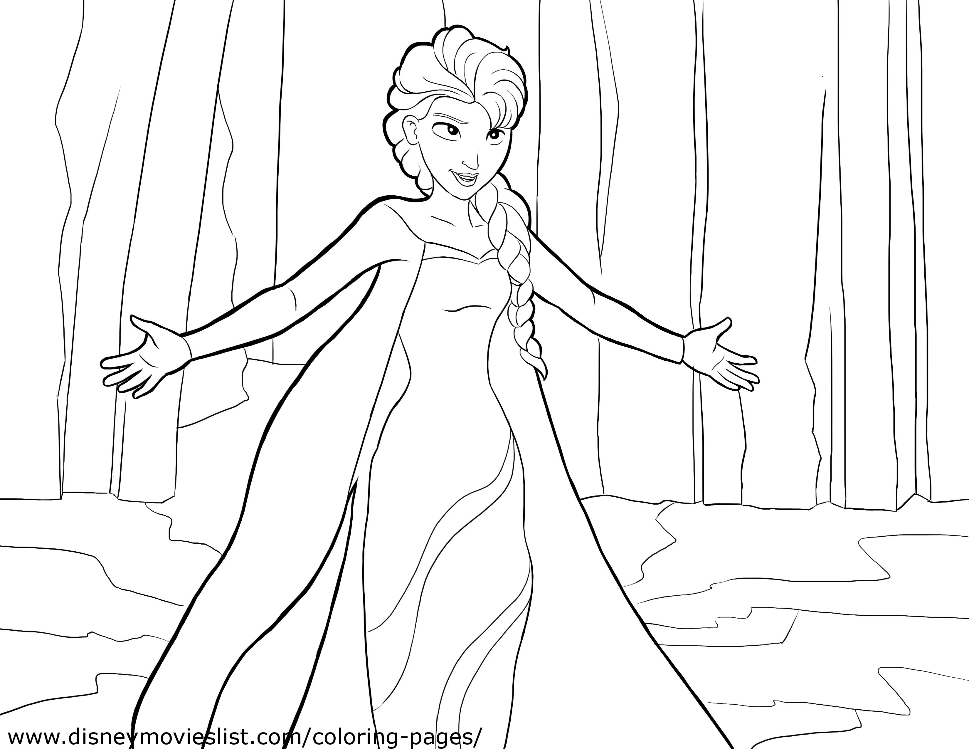 Elsa Coloring Page - Elsa and Anna Photo (36145910) - Fanpop