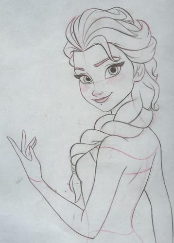 elsa e ana wallpaper possibly with animê called Elsa