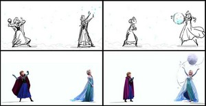 Anna and Elsa Concept to Final