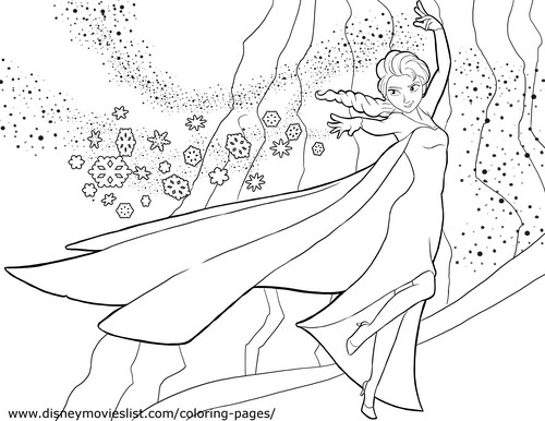 Elsa the Snow Queen hình nền entitled Elsa Coloring Page