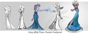 Elsa ディズニー Infinity Character Development