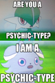 Espurr and Gallade Have a Chat - pokemon photo
