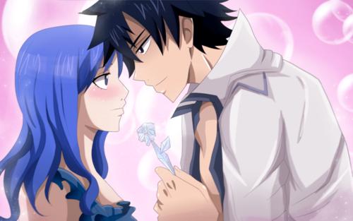 Fairy Tail fond d'écran probably containing animé titled *Gray x Juvia*