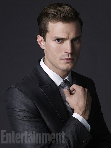 Fifty Shades of Grey achtergrond with a business suit, a suit, and a two piece entitled Jamie Dornan EW outtakes
