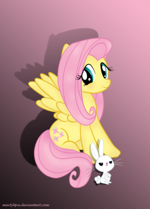 Fluttershy and Энджел