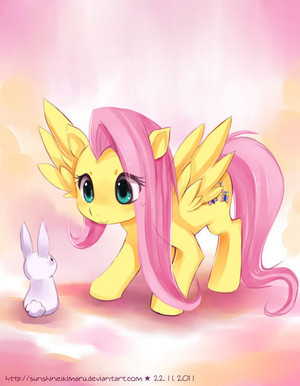 Fluttershy with Angel