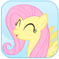 Fluttershy Cheering Icon - fluttershy photo