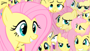 Fluttershy Faces Обои