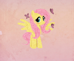Fluttershy and 나비