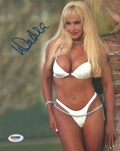 Former WWE Diva... Debra پیپر وال possibly with a brassiere and a bikini titled High Quality Autograph - white Bikini