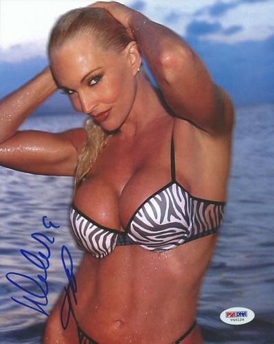 Frühere WWE-Diva… Debra Hintergrund containing a bikini entitled High Quality Autograph - zebra pattern bikini