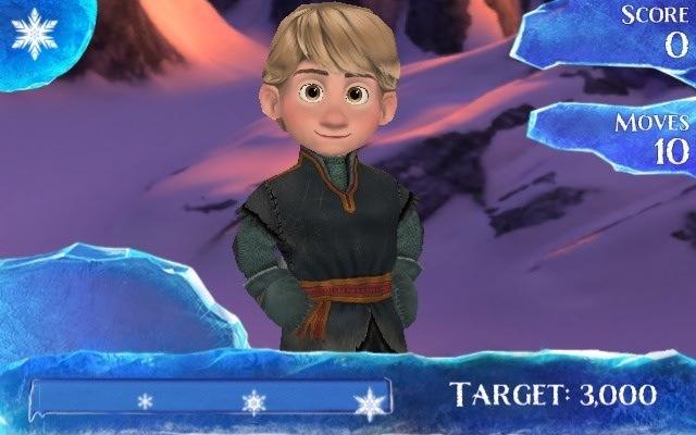 Little Kristoff from Frozen Free Fall app