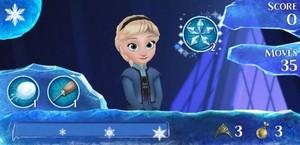 Little Elsa from La Reine des Neiges Free Fall app