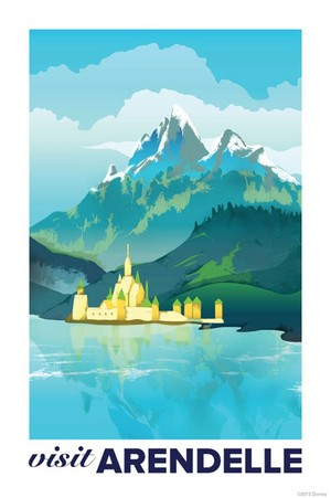 Frozen - Uma Aventura Congelante Vintage Travel Posters for the Kingdom of Arendelle