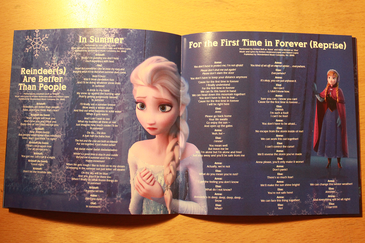 Frozen Images Soundtrack Deluxe Edition Booklet HD Wallpaper And Background Photos