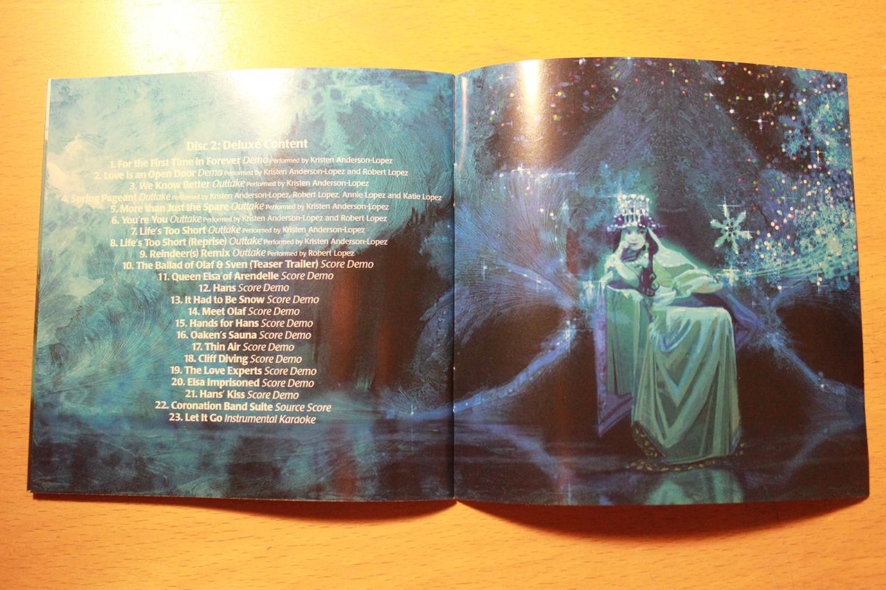 Frozen Soundtrack Deluxe Edition booklet
