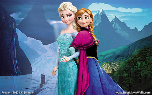 Frozen wallpaper titled Elsa and Anna