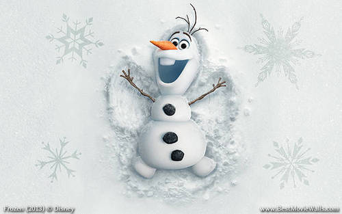 Frozen Hintergrund titled Olaf the Snowman