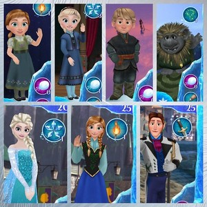 Frozen Free Fall Characters Available