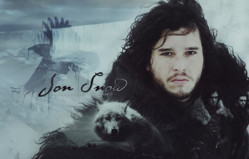 Game of Thrones wallpaper probably containing an igloo titled Jon Snow