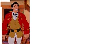 Gaston in Belle's house