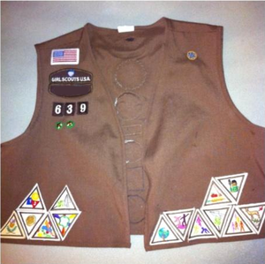 My Girl Scout Brownie Vest!