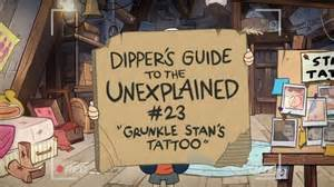 Grunkle Stan's Tattoo