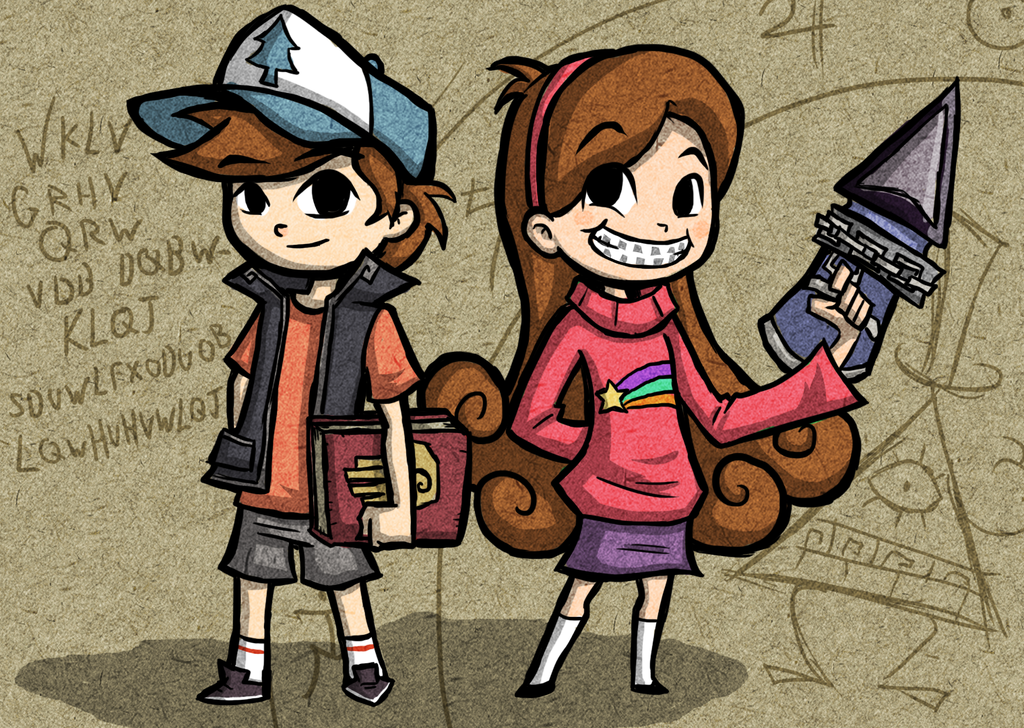Willkommen In Gravity Falls Hintergrund With Anime Entitled Dipper And Mabel