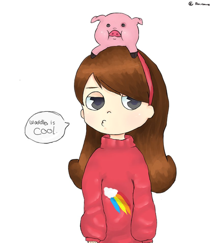 Gravity Falls پیپر وال called Mabel and Waddles