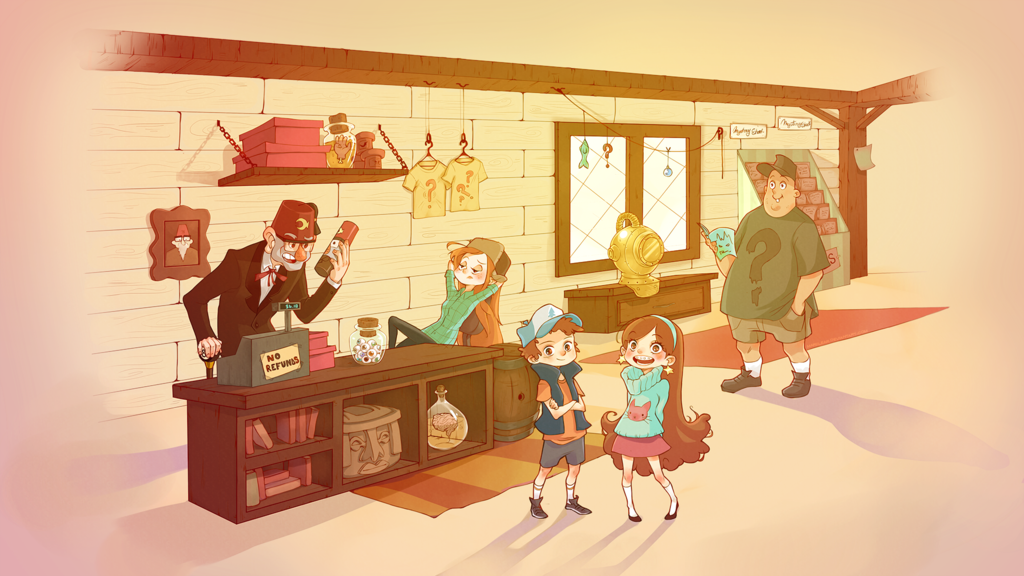 the gravity falls gang