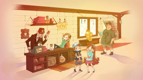 Gravity Falls پیپر وال possibly with a family room entitled the gravity falls gang