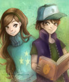 dipper and mabel - gravity-falls photo