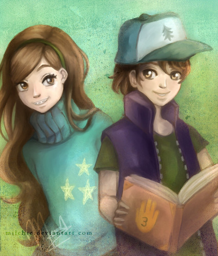 Gravity Falls achtergrond probably with a portrait entitled dipper and mabel