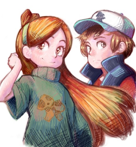 Gravity Falls پیپر وال probably with a portrait called dipper and mabel