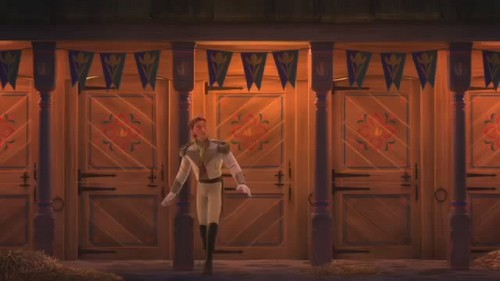 Hans wallpaper entitled Love is an open door video clip Screencaps