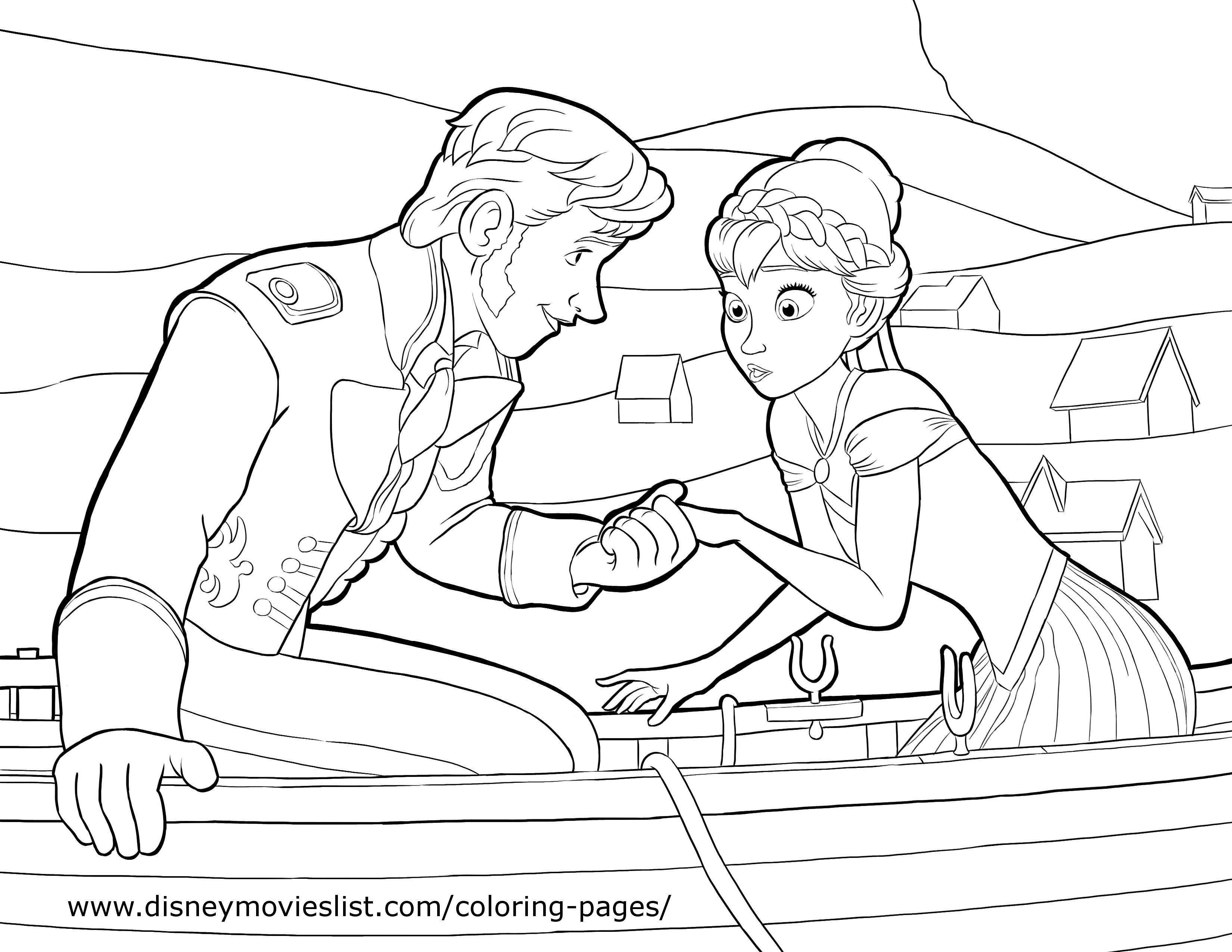Hans and Anna Coloring Page